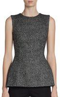 Dolce & Gabbana Herringbone Tweed Peplum Top - Lyst