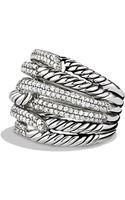 David Yurman Labyrinth Tripleloop Ring with Diamonds - Lyst