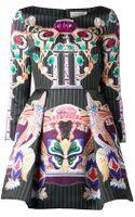 Mary Katrantzou Printed Flare Dress - Lyst