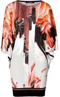 Roberto Cavalli Silk Feather Print Tunic - Lyst