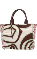 Pinko Cotton Printed Tote Bag  - Lyst
