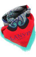 Lanvin Printed Scarf - Lyst