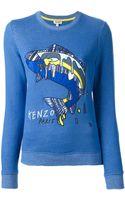 Kenzo Embroidered Fish Sweatshirt - Lyst