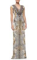 Camilla Silk Animalprint Long Coverup Dress - Lyst