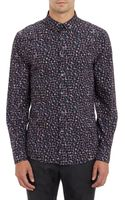 PS by Paul Smith Abstract Floral Poplin Shirt - Lyst