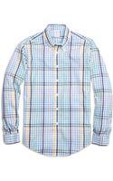 Brooks Brothers Non-iron Regular Fit Multi Gingham Sport Shirt - Lyst