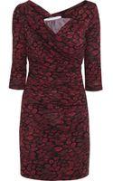 Diane Von Furstenberg Bentley Printed Silk Mini Dress - Lyst