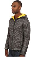 Armani Jeans All Over Printed Polyester Reversible Jacket - Lyst