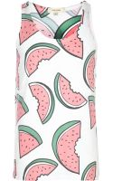 River Island White Watermelon Print Vest - Lyst