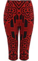 Alexander McQueen Patchwork Print Cropped Trousers - Lyst