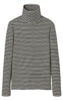 Uniqlo Supima Cotton Polo Neck Long Sleeve Tee - Lyst