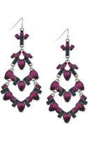 BCBGeneration Hematite-tone Purple Stone Chandelier Earrings - Lyst