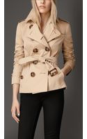 Burberry Hornlook Button Gabardine Trench Jacket - Lyst