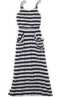 Gap Stripe Drapey Maxi Dress - Lyst