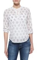 Rebecca Taylor Floral Print Voile Blouse  - Lyst