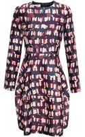 Marni Longsleeved Printed Dress - Lyst