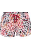 DKNY Polar Shaddow Floral Boxer Short - Lyst