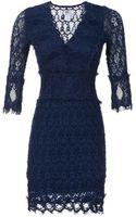 Nightcap Threequarter Sleeve Vneck Lace Dress - Lyst