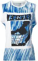 Kenzo Printed Tank Top - Lyst