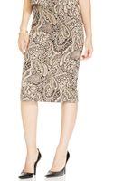 Eci Brocade Pencil Skirt - Lyst