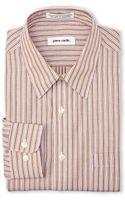 Pierre Cardin Orange Stripe Dress Shirt - Lyst