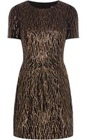 Karen Millen Sequin Pattern Dress - Lyst