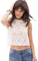 Forever 21 Beaded Lace Top - Lyst