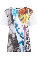 McQ by Alexander McQueen White Collage Print Cotton Tshirt - Lyst