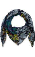 McQ by Alexander McQueen Green Brocade Silk Scarf - Lyst