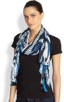 Roberto Cavalli Silk Printed Scarf - Lyst