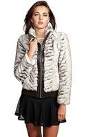 Guess Melbourne Faux Fur Jacket - Lyst