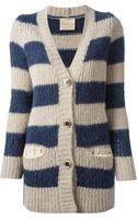 Erika Cavallini Semi Couture Striped Cardigan - Lyst