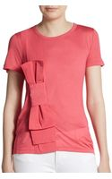 RED Valentino Oversized Bow Tee - Lyst