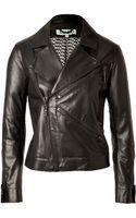 Kenzo Leather Biker Jacket - Lyst