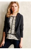 Knitted & Knotted Fringed Circle Cardigan - Lyst