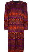 Louis Feraud Vintage Print Midi Dress - Lyst