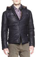 Brunello Cucinelli Short Leather Puffer Jacket - Lyst