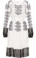 Altuzarra Bridget Embroidered Silk Dress - Lyst