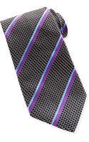 Ike Behar Textured Stripe Silk Tie - Lyst