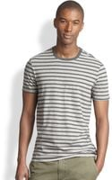 Vince Jersey Cotton Striped Tee - Lyst