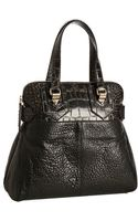 Givenchy Black Crocodile Embossed Lambskin New Line Moyen Tote Bag - Lyst