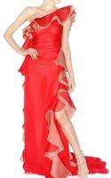 Valentino Chiffon Dress - Lyst