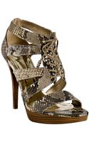 Stuart Weitzman Magnetic Python Gladly Lace-up Platform Sandals - Lyst
