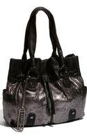 B. Makowsky Bella Drawstring Metallic Leather Shopper - Lyst