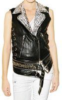 Balmain Studded Leather Vest - Lyst
