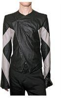 Gareth Pugh Bicolored Nappa Leather Jacket - Lyst