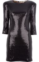 Twentycluny Fitted Sequinned Dress - Lyst