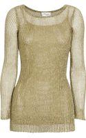 Temperley London Metallic Open-knit Sweater - Lyst