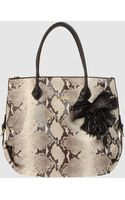 Just Cavalli Large Leather Bag - Lyst