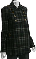 French Connection Navy Cotton-wool Check Ria Double Breasted Coat - Lyst